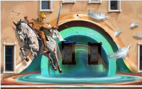 """Tuyệt phẩm mới trên những bức tường ở """"thị trấn Địa Trung Hải"""" Nam Phú Quốc"""