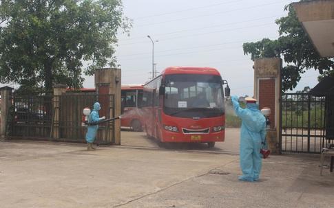 Thanh Hóa tiếp nhận 422 công dân từ Bắc Giang trở về địa phương