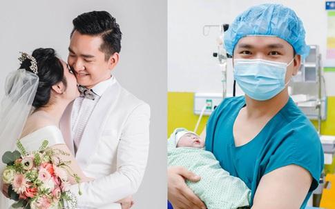 """Vợ MC Hạnh Phúc """"Chuyển động 24h"""" sinh con gái đầu lòng sau 1 năm kết hôn"""