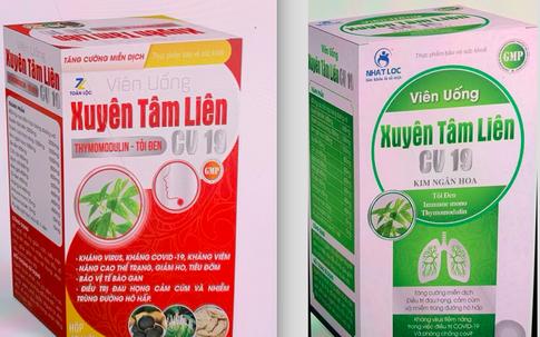 Bộ Y tế cảnh báo khẩn 2 sản phẩm Xuyên tâm liên giả mạo phòng chống COVID-19