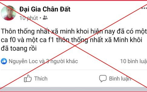 """Thông tin sai sự thật tài khoản Facebook """"Đại gia chân đất"""" tại Thanh Hóa bị xử phạt"""
