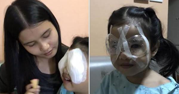 Hành động sai lầm của cha khi cho con ăn cơm khiến bé gái 4 tuổi phải phẫu thuật mắt