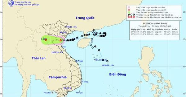 Thông tin mới nhất về cơn bão số 4