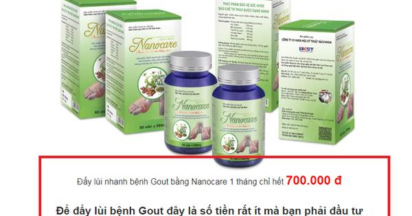"""Thực phẩm Nanocare quảng cáo như """"thần dược"""""""
