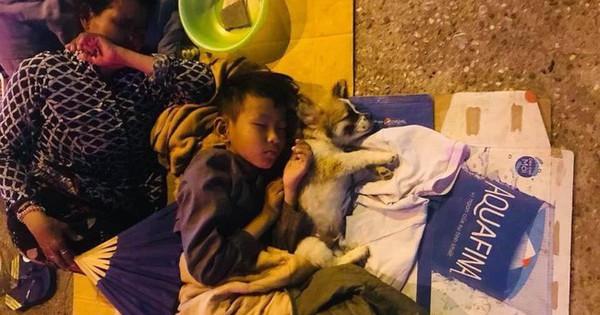 Giữa đêm Sài Gòn, gia đình 3 thành viên ôm nhau ngủ dưới ánh đèn đường leo lét gây xúc động mạnh