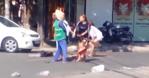 Cô gái bị phạt 2,5 triệu đồng vì đánh người lao công