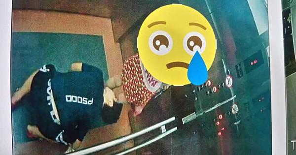 """Xuất hiện """"kẻ biến thái"""" quỳ xuống trong thang máy để nhìn bên trong váy của bé gái"""