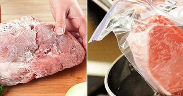 Thịt lợn trữ đông trong tủ lạnh, tuyệt đối không làm điều này khi rã đông kẻo hối không kịp