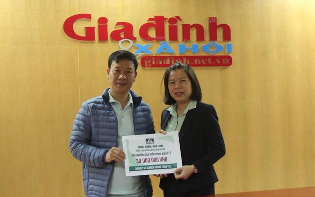 Dược Hoa Linh đồng hành Báo Gia đình & Xã hội hỗ trợ miền Trung khắc phục hậu quả thiên tai