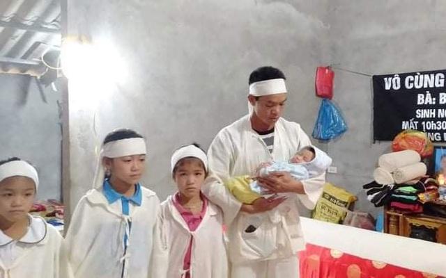 Xót xa cảnh người đàn ông nuôi 4 con nhỏ nheo nhóc, khát sữa khi vợ vừa qua đời vì ung thư
