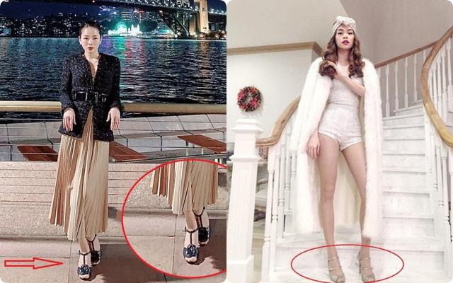 """Đi vào vết xe đổ của Hà Hồ, Lệ Quyên diện sandals Chanel vẫn """"kém sang"""" chỉ vì chi tiết này"""