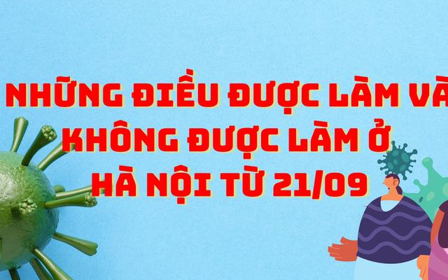 Những điều được làm và không được làm ở Hà Nội từ 21/09