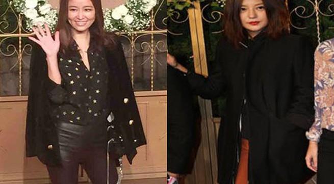 Triệu Vy, Lâm Tâm Như mặc đơn giản dự tiệc cưới Hiểu Minh