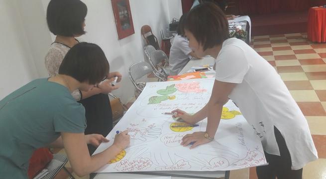 Công nhân KCN Bắc Thăng Long tập huấn kỹ năng dinh dưỡng và sức khỏe