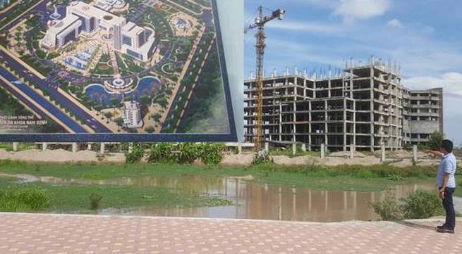 """Nam Định: """"Siêu dự án"""" bệnh viện bỏ hoang, chủ đầu tư """"thả gà ra đuổi"""""""