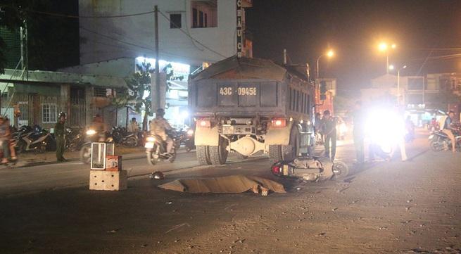 Đà Nẵng: Người phụ nữ chết thương tâm dưới bánh xe tải