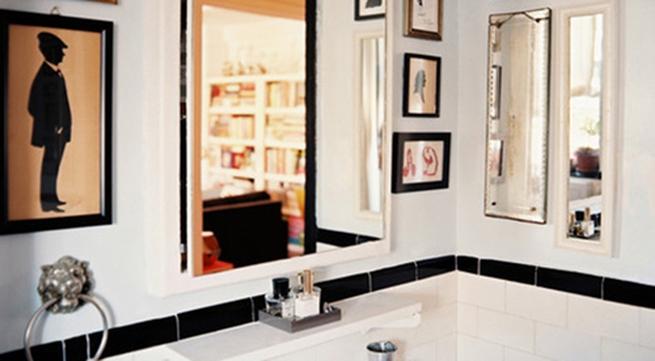 Làm mới phòng tắm với trang trí đơn giản