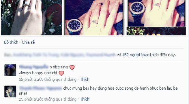 Ngọc Quyên bất ngờ đăng ảnh đeo nhẫn đính hôn