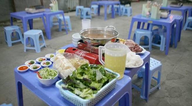 Lẩu riêu ngao bắp bò phố Nghĩa Tân