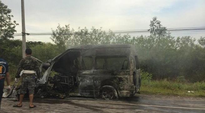 Hành khách Việt sống sót sau vụ tai nạn ở Thái Lan