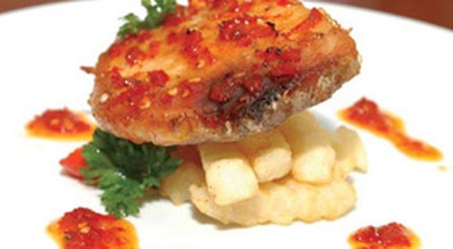 Xốt và nướng thật ngon với món cá ngừ