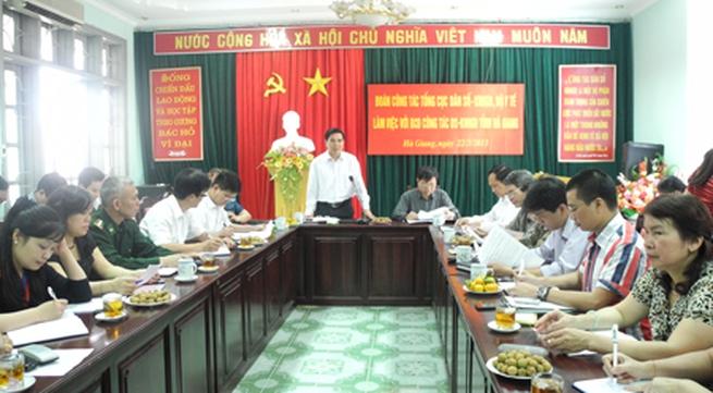 Đoàn công tác Tổng cục DS-KHHGĐ làm việc với tỉnh Tuyên Quang, Hà Giang