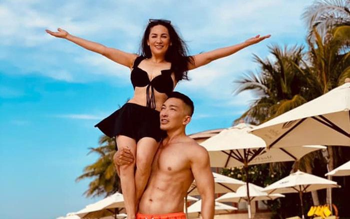 """Phi Nhung diện bikini khoe body nhưng không """"hot"""" bằng khoảnh khắc bồng bế với trai trẻ 6 múi - xs thứ ba"""