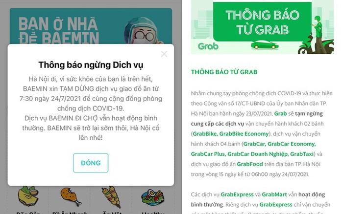 Các ứng dụng đồng loạt thông báo dừng dịch vụ giao đồ ăn tại Hà Nội - x��� s��� vietlott
